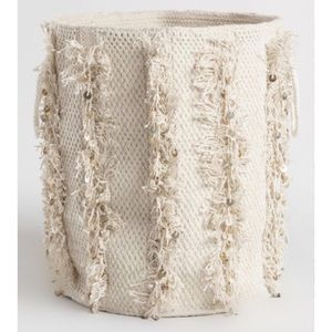 Anthropologie Fringe Sequin Basket